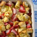 Overnight Strawberry Lemon French Toast Casserole