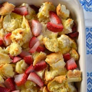 Strawberry Lemon French Toast Casserole