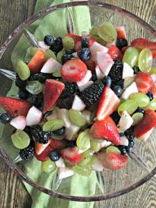 fruit salad with honey and lime