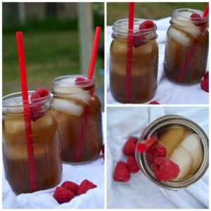 Raspberry unsweet tea