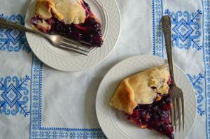 Rustic Peach Blueberry Tart