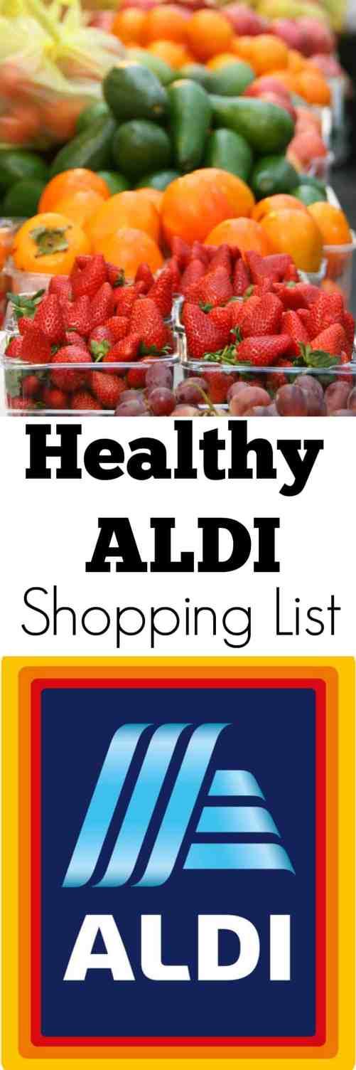 Healthy Aldi Shopping List - Must buy healthy lifestyle aldi essentials! #aldi #aldishopping #healthyeating