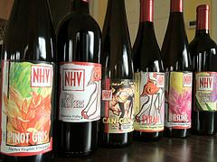 NHV bottles line up all