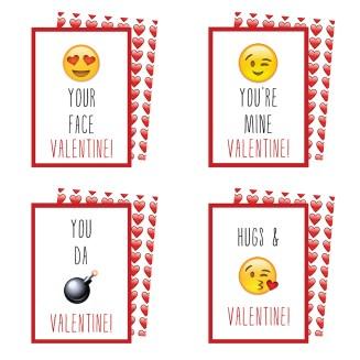 Emoji Valentines Cards Collection