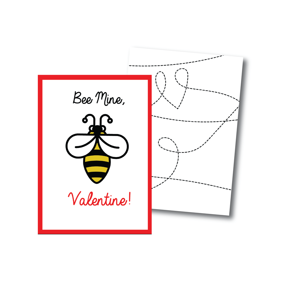 Printable Bee Valentines Cards – Bee My Valentine Card