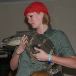 Kate on conservation reptile education