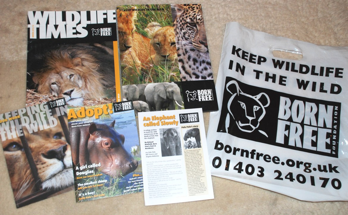 Born Free Foundation leaflets, flyers