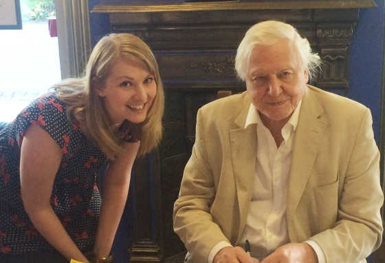 Kate on Conservation meets David Attenborough