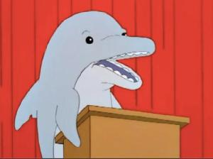 Dolphin on The Simpsons