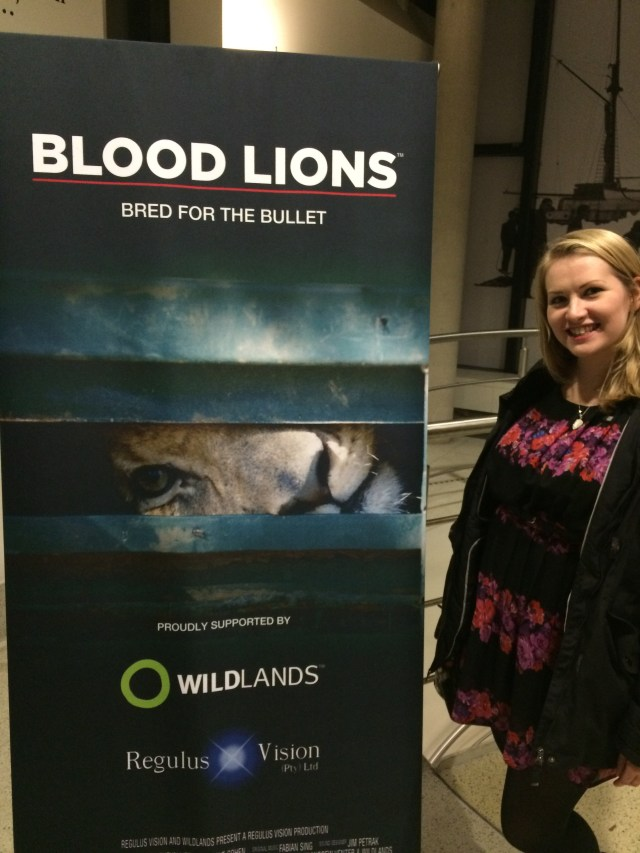 Kate on Conservation at Blood Lions premier