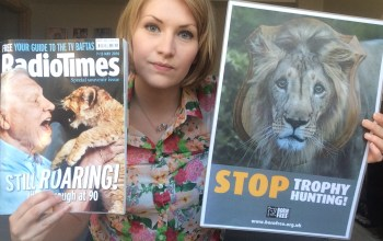 Kate on conservation with David Attenborough Radio Times cover