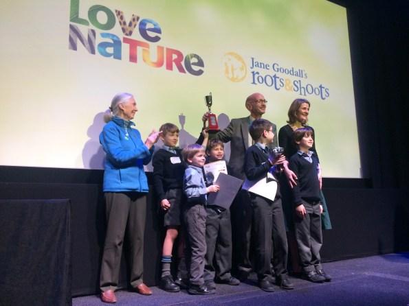 Roots and shoots award presentation