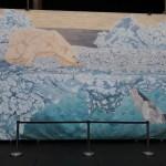 Polar bear and harp seal by Omra Sian