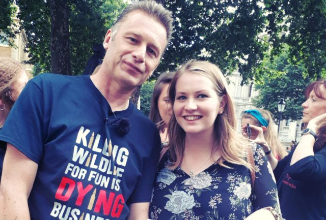 Chris Packham and Kate on Conservation at Crush Cruelty protest march