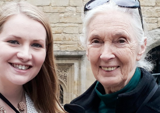 Dr Jane goodall and kate on conservation Windsor Castle