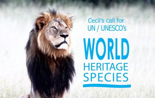 cecil unesco world heritage species campaign