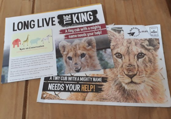 Born free king campaign letters