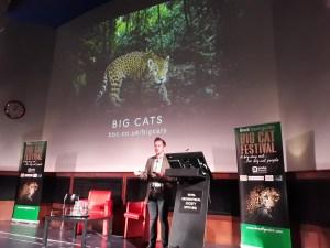 Gavin Boyland talks about BBC Big Cats series at Brad'ts big cat festival