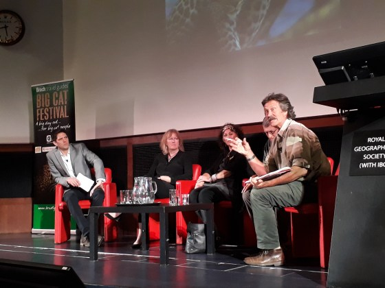 Jonathan later joined a panel discussion on 'the future of Big Cats'.