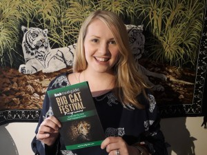 Kate on Conservation holds bradt's big cat festival guide