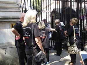 STAE team entering Downing Street