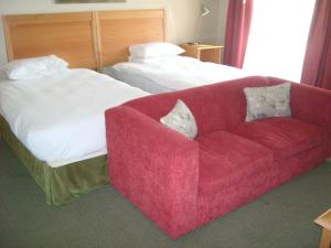 Bushman Sands Hotel room - complete with sofa!