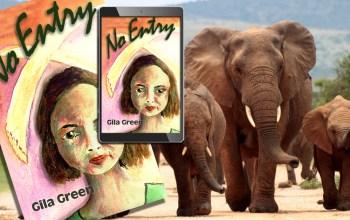 No Entry elephant book and e-book elephant background