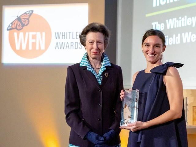 Ilena-Zanella-receiving-Whitley-Award-from-Princess-Anne