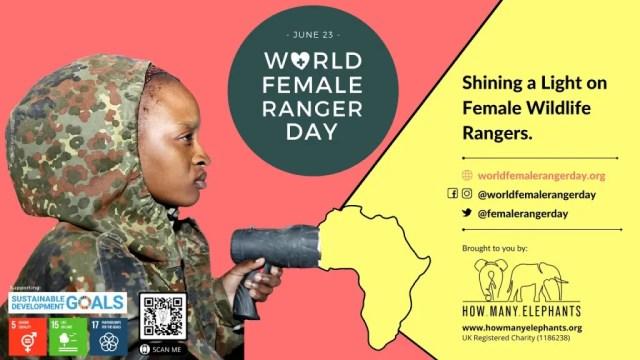 World Female Ranger Day banner How Many Elephants