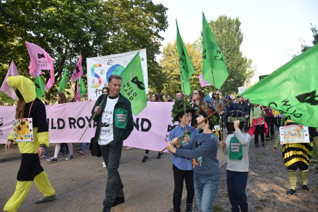 Chris Pack walks with royal rewild procession through Green Park