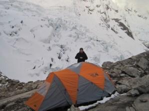 Tocclaraju High Camp