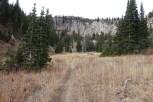 Heading up Dry Fork