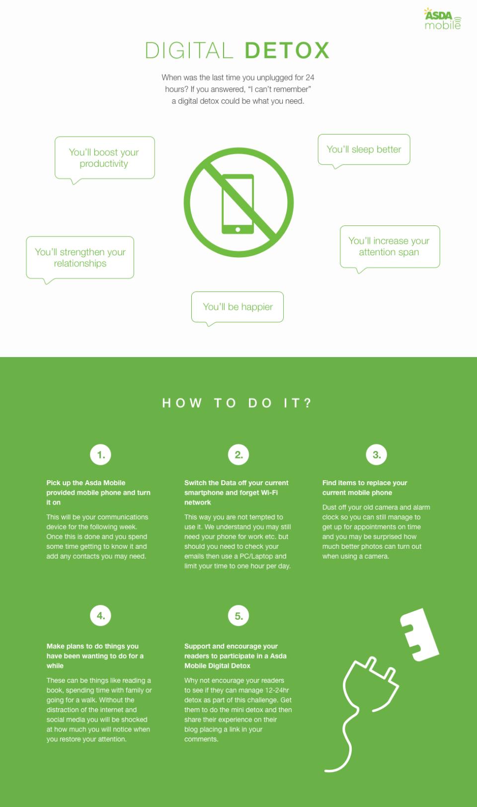 Digital Detox Infographic