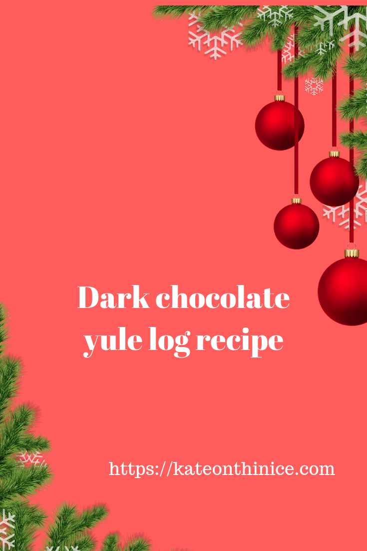 Dark Chocolate Yule Log Recipe