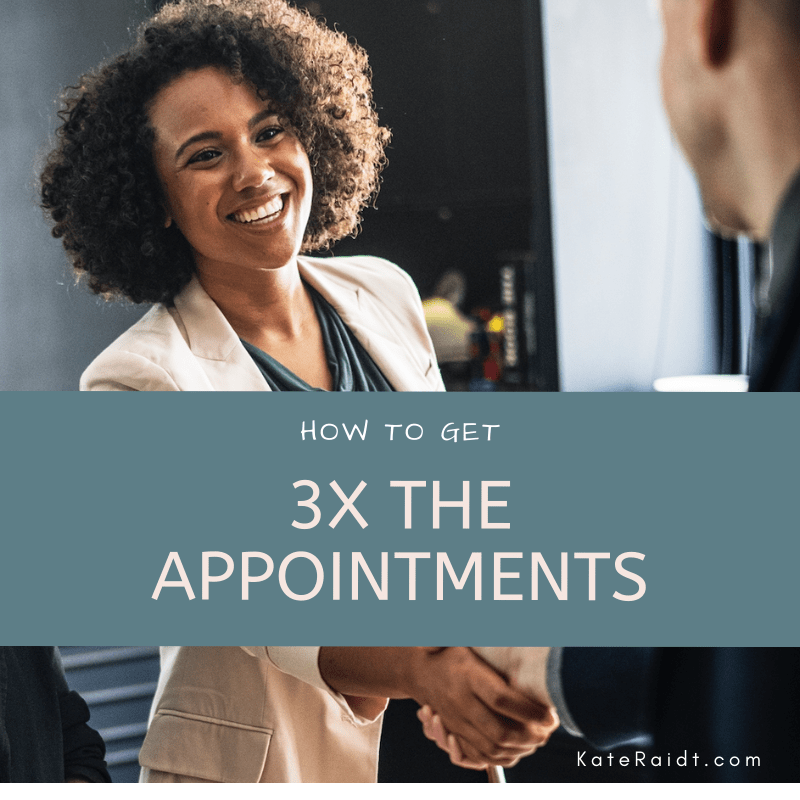 how to book more sales appointments