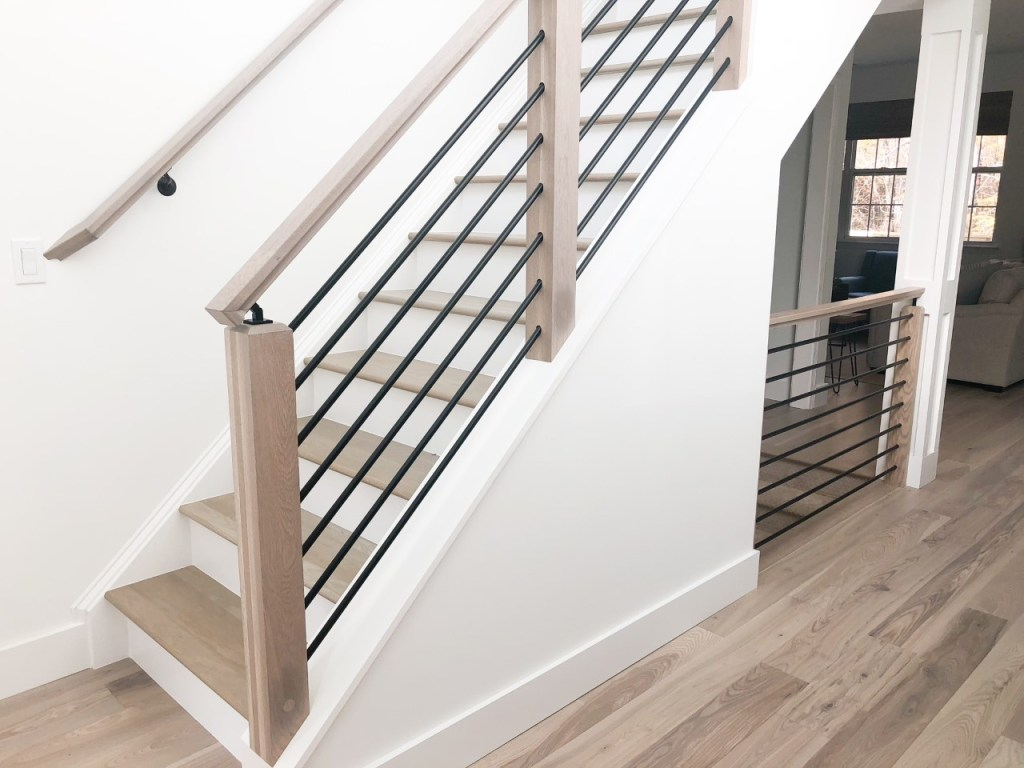 before after photo staircase renovation