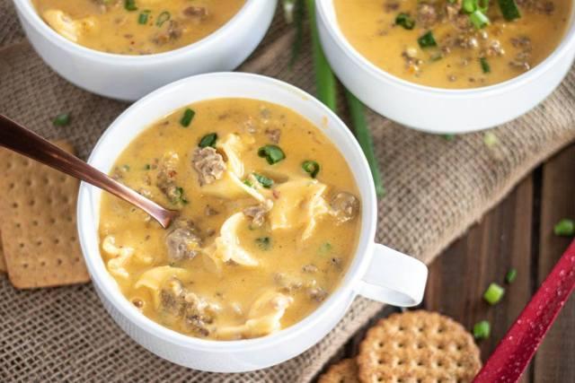 Butternut Squash, Sausage & Tortellini Soup
