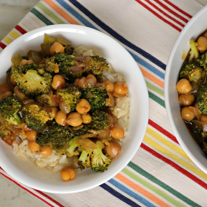 Chickpea & Broccoli Stir Fry
