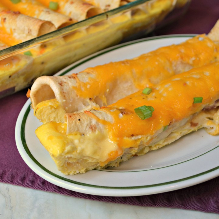 Ham & Cheese Breakfast Enchiladas