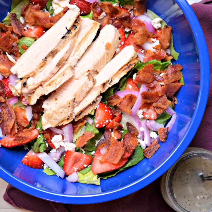Strawberry Chicken Chopped Salad