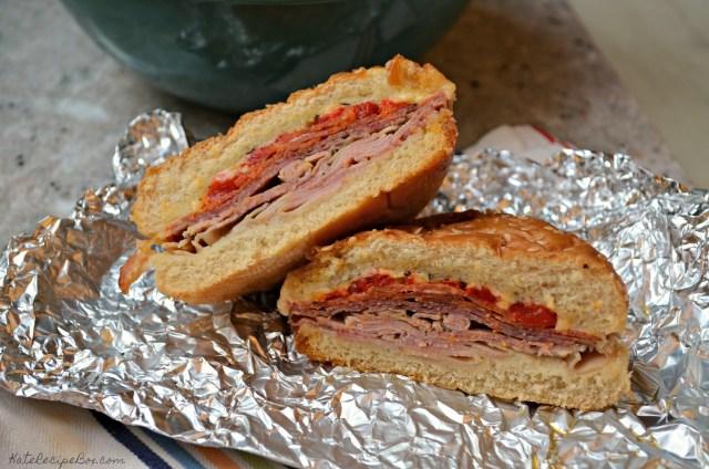 Cross section of an Italian sandwich.