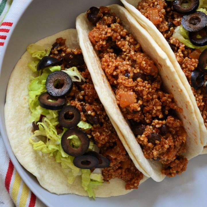 Vegan Black Bean & Quinoa Tacos