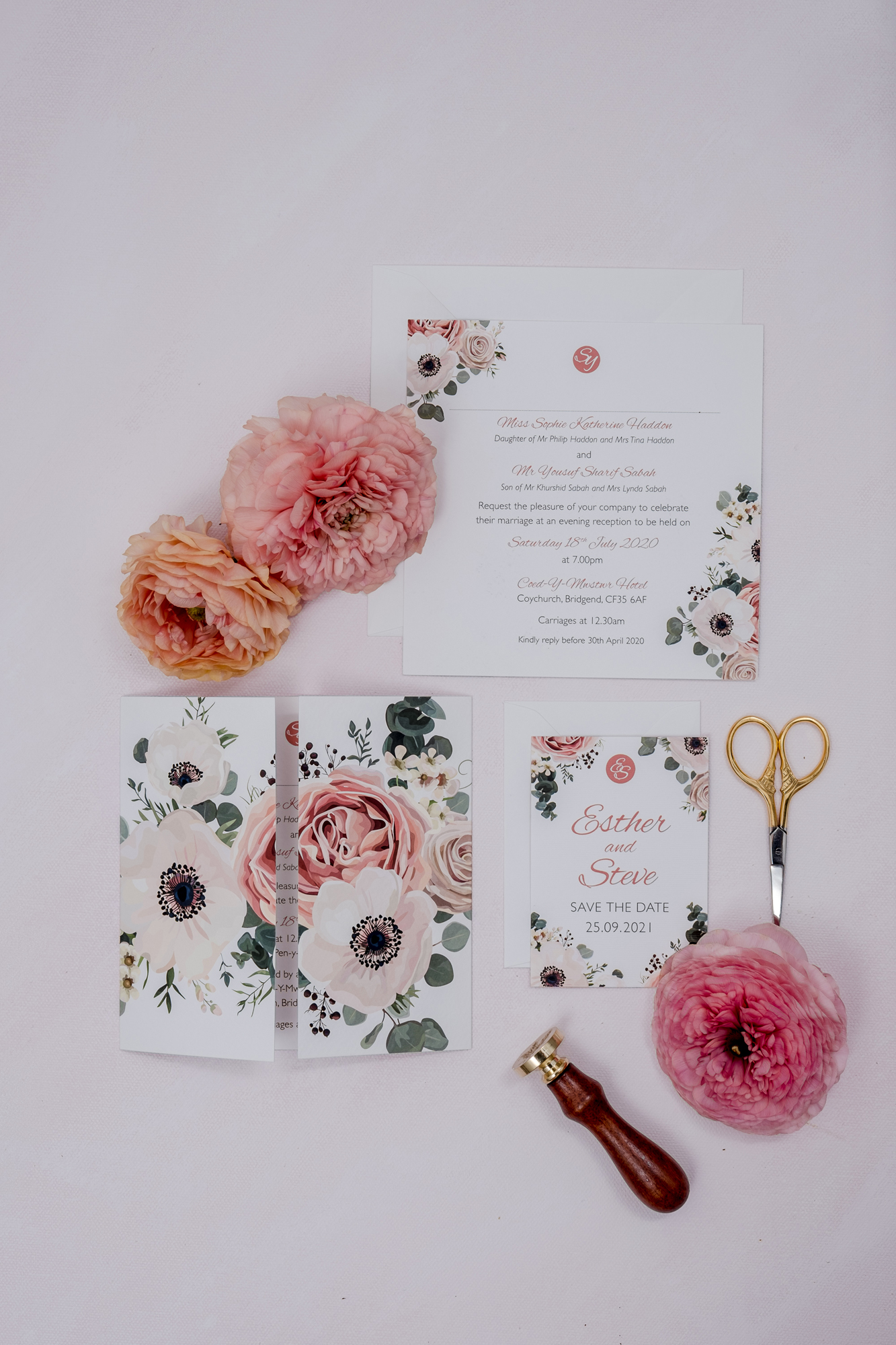 Stationery Flat Lay with props