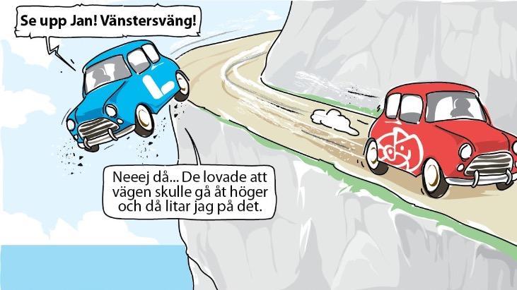 De fyras gäng styr Sverige rätt ner i diket