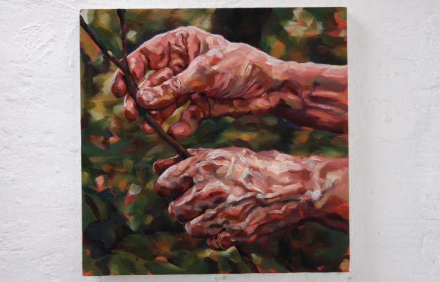 Hands, 2007, oil on linen
