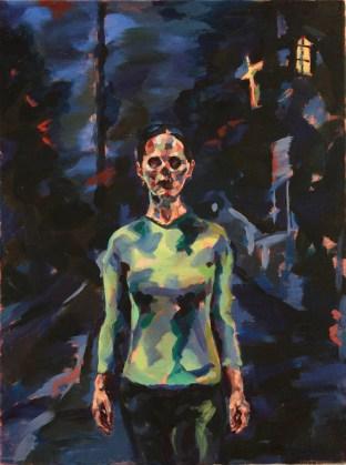 Night Portrait, 2013, Oil on linen