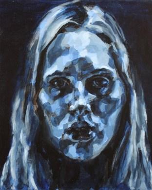 Blue Portrait, 2009, Acrylic on linen