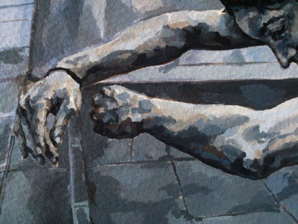 Choreographed Self-Portrait, Martin Place (detail)