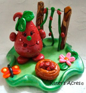 Strawberry Patch Parker StoryBook Scene by KatersAcres