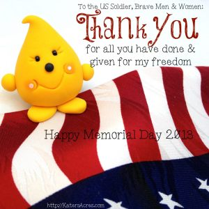 Memorial Day Parker - Thank You from KatersAcres